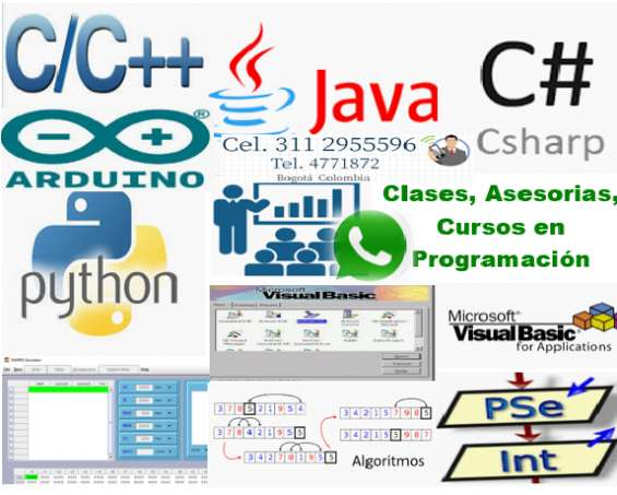Clases particulares de algoritmos y lógica de programación, psint , dev, c, c++, aduino,