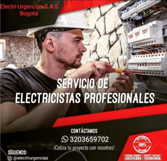 Servicio de electricistas profesionales,reparaciones e instalaciones.