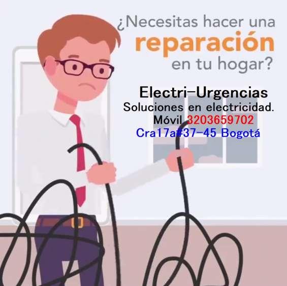Servicio de instalaciones y reparaciones eléctricas.electricistas a domicilio bogotá.