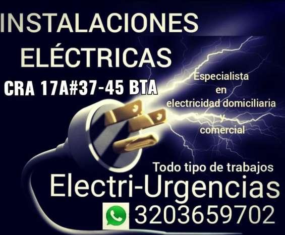 Tecnico electricista,instalaciones electricas,bogota.